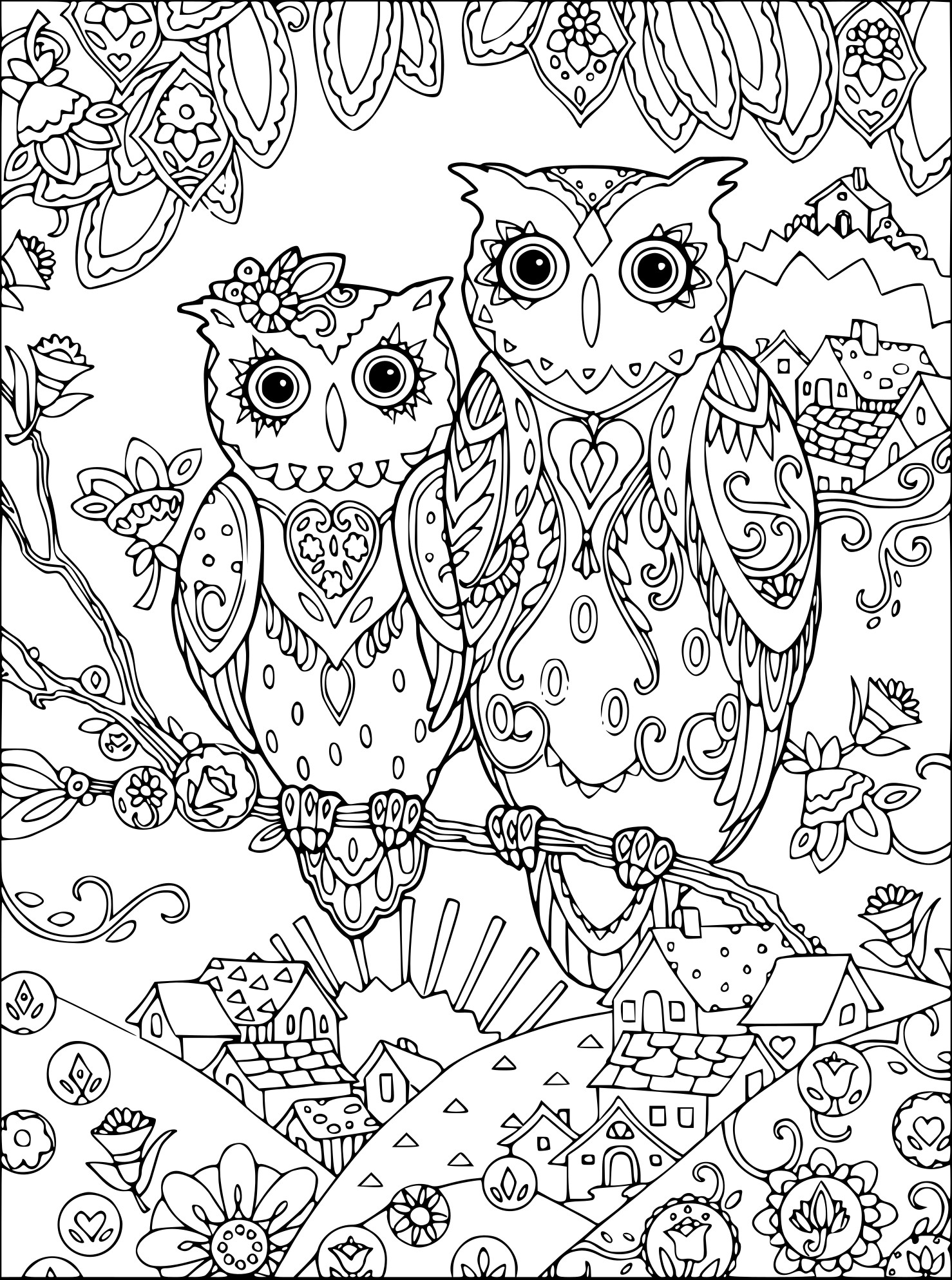 Agréable Coloriage Chouette Adulte 15 Pour Coloriage Pages with Coloriage Chouette Adulte