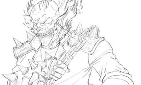 Agréable Coloriage Ghost Rider 73 Avec supplémentaire Coloriage Inspiration for Coloriage Ghost Rider