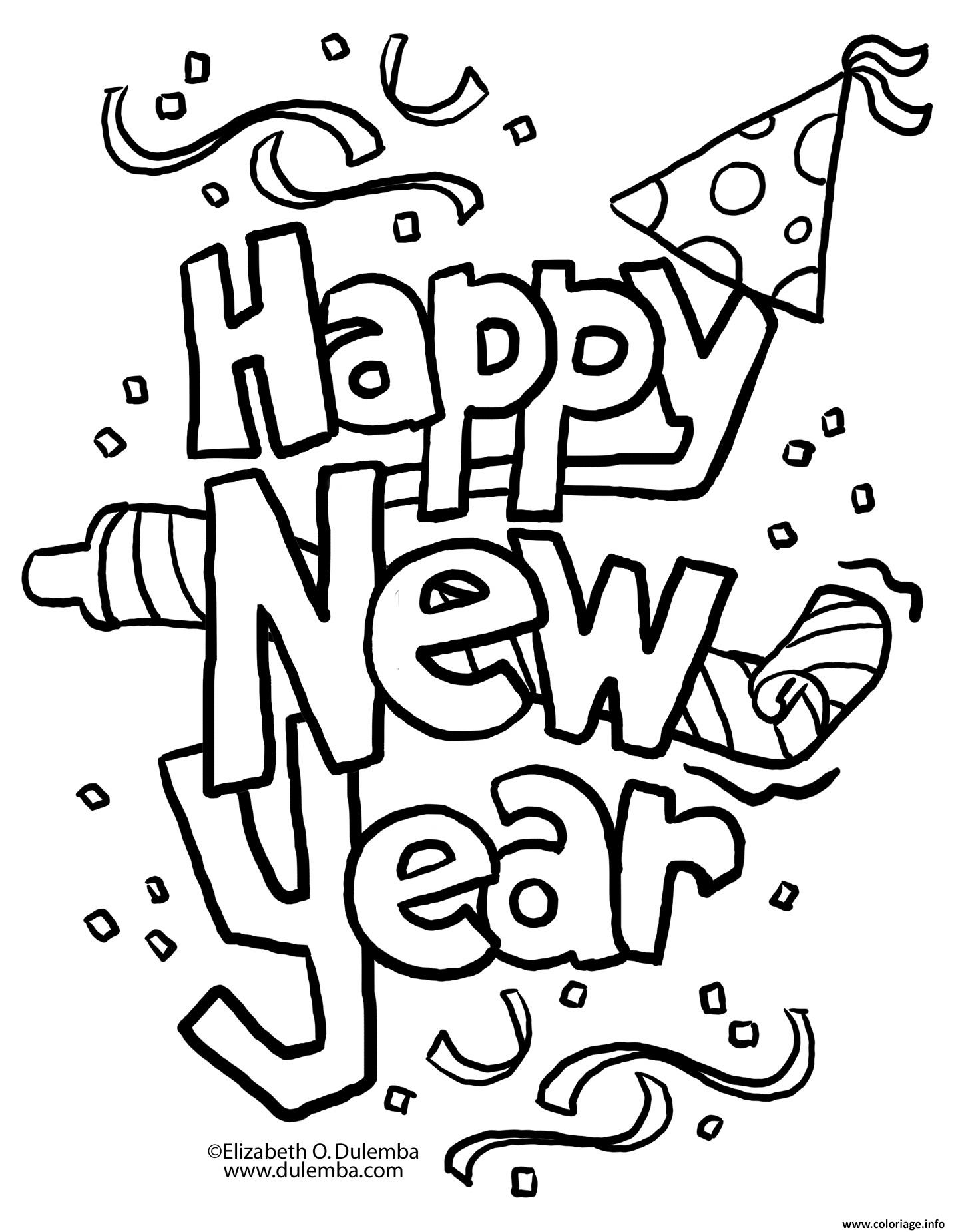 Agréable Dessin Happy New Year 32 Dans Coloriage Books for Dessin Happy New Year