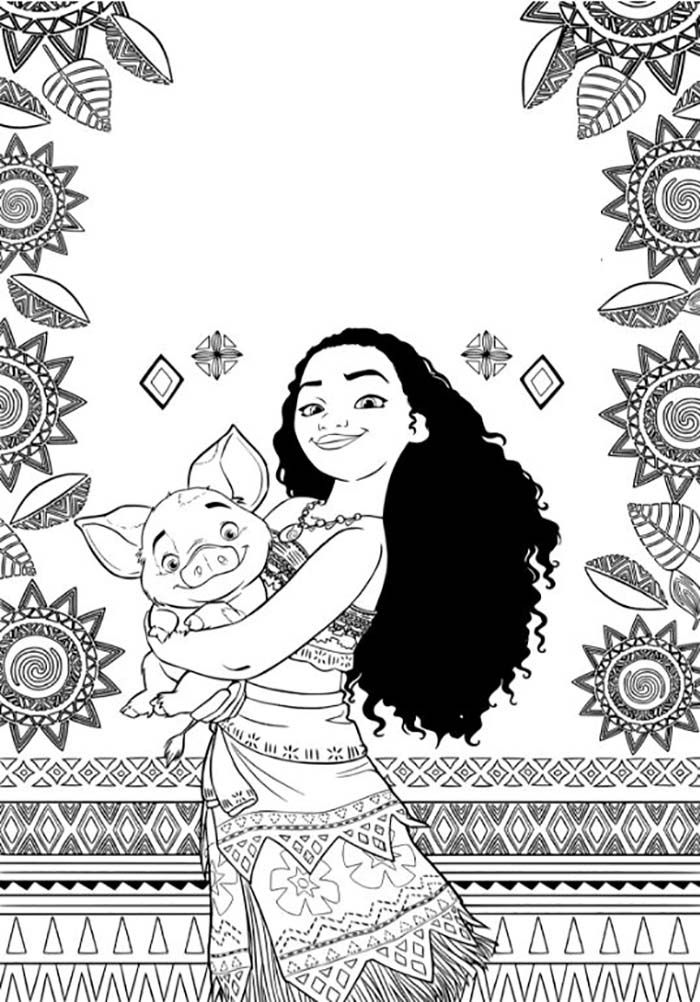 Agréable Vaiana Coloriage 12 Pour Coloriage Inspiration with Vaiana Coloriage