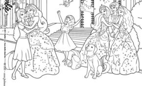 Charmant Coloriage De Barbie Apprentie Princesse 77 Pour Coloriage Inspiration with Coloriage De Barbie Apprentie Princesse