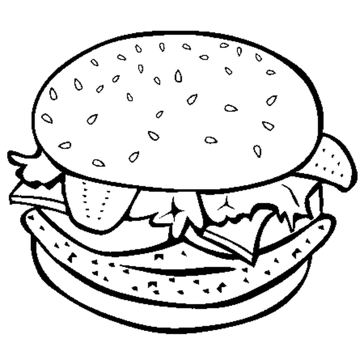 Charmant Coloriage Hamburger 50 sur Coloriage Inspiration with Coloriage Hamburger
