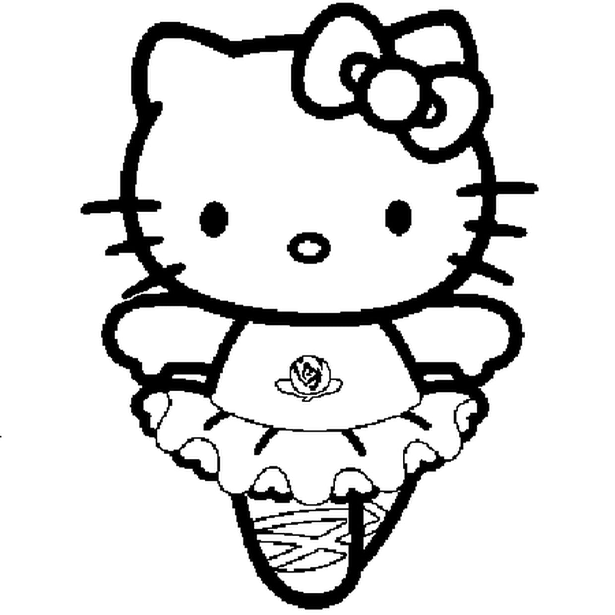 Charmant Coloriage Hello Ketty 97 sur Coloriage Pages by Coloriage Hello Ketty