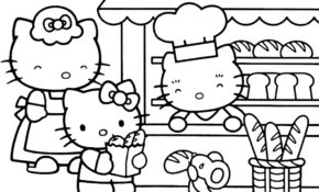 Charmant Coloriage Hello Kitty Cuisine 46 Dans Coloriage Pages by Coloriage Hello Kitty Cuisine