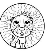 Charmant Coloriage Mandala Lion 34 Dans Coloriage Books with Coloriage Mandala Lion