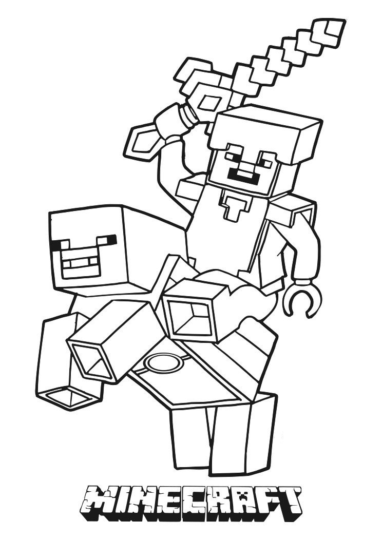 Charmant Coloriage Minecraft 71 Pour Coloriage idée for Coloriage Minecraft