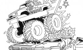 Charmant Coloriage Monster Truck 71 Pour votre Coloriage idée for Coloriage Monster Truck