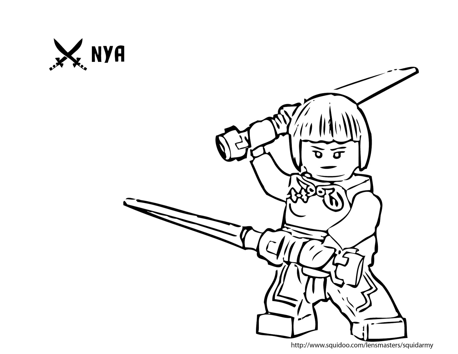 Charmant Coloriage Ninjago Nya 99 sur Coloriage Pages for Coloriage Ninjago Nya