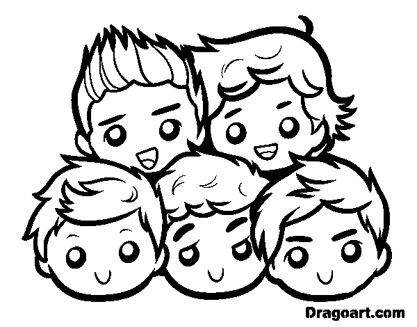 Charmant Coloriage One Direction 92 Avec supplémentaire Coloriage Inspiration for Coloriage One Direction