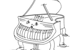 Charmant Coloriage Piano 75 sur Coloriage Pages for Coloriage Piano