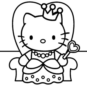 Charmant Coloriage Princesse Hello Kitty 63 sur Coloriage Pages with Coloriage Princesse Hello Kitty