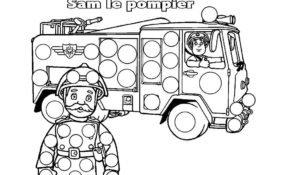 Charmant Coloriage Sam Le Pompier 95 sur Coloriage idée for Coloriage Sam Le Pompier