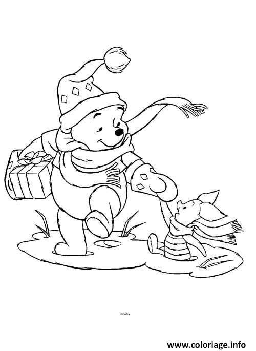 Charmant Coloriage Winnie Noel 45 Pour Coloriage Pages by Coloriage Winnie Noel