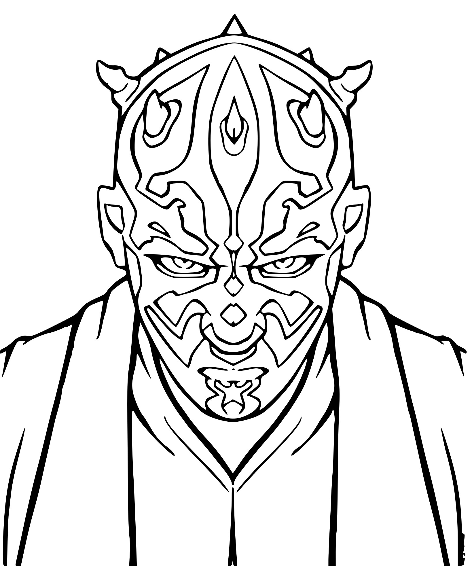 darth maul coloring pages - HD800×1125