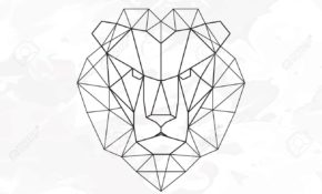 Charmant Lion Geometrique Dessin 48 Pour Coloriage idée for Lion Geometrique Dessin