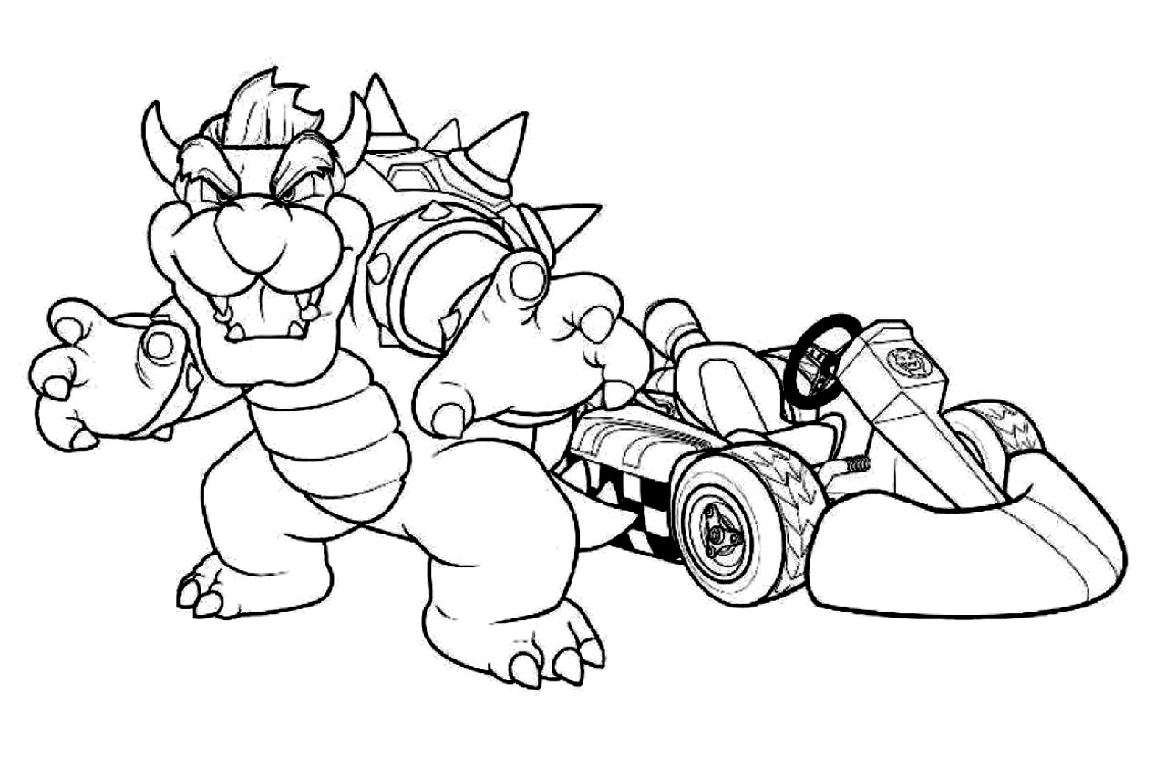 Charmant Mario Kart 8 Coloriage 95 Pour Coloriage Pages by Mario Kart 8 Coloriage