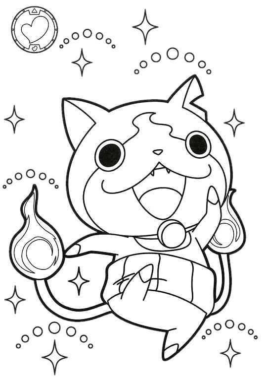 Charmant Yo Kai Watch Coloriage 56 Avec supplémentaire Coloriage Pages for Yo Kai Watch Coloriage