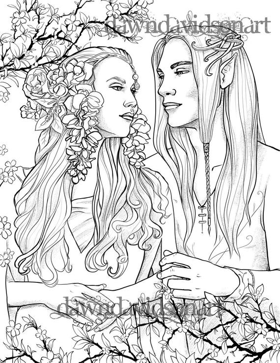 Cool Coloriage Adulte Elfe 45 Dans Coloriage Pages for Coloriage Adulte Elfe