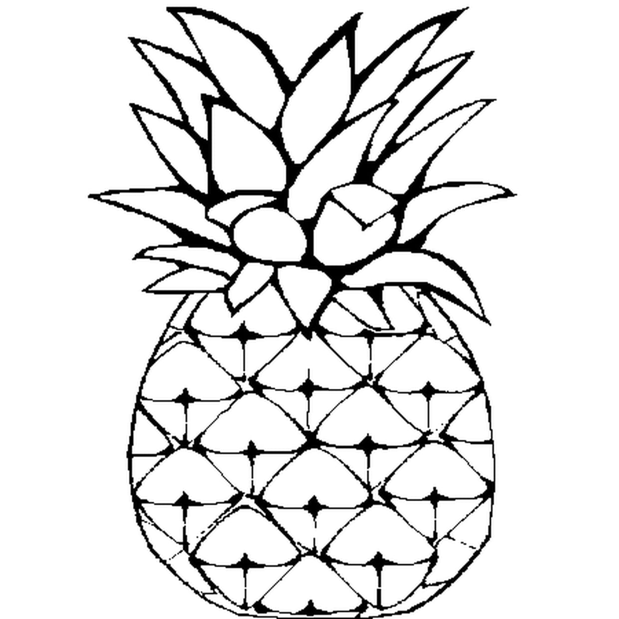 Cool Coloriage Ananas 75 Dans Coloriage Inspiration by Coloriage Ananas