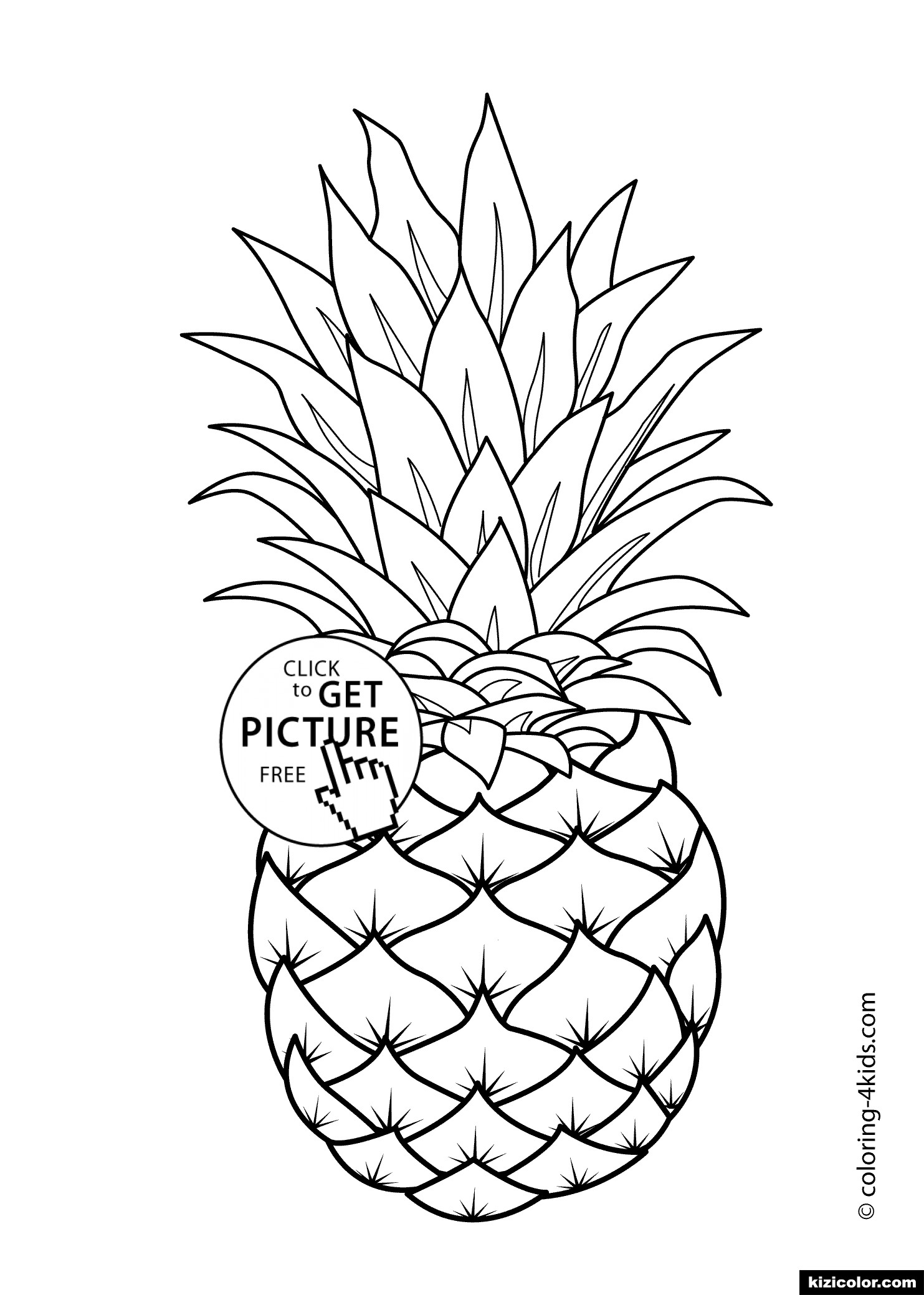 Cool Coloriage Ananas 97 Avec supplémentaire Coloriage Inspiration with Coloriage Ananas