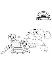 Cool Coloriage Gumball 51 Pour Coloriage Books for Coloriage Gumball