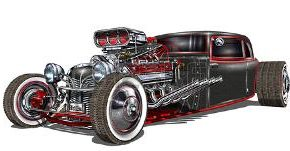Cool Coloriage Hot Rod 78 Pour Coloriage idée with Coloriage Hot Rod