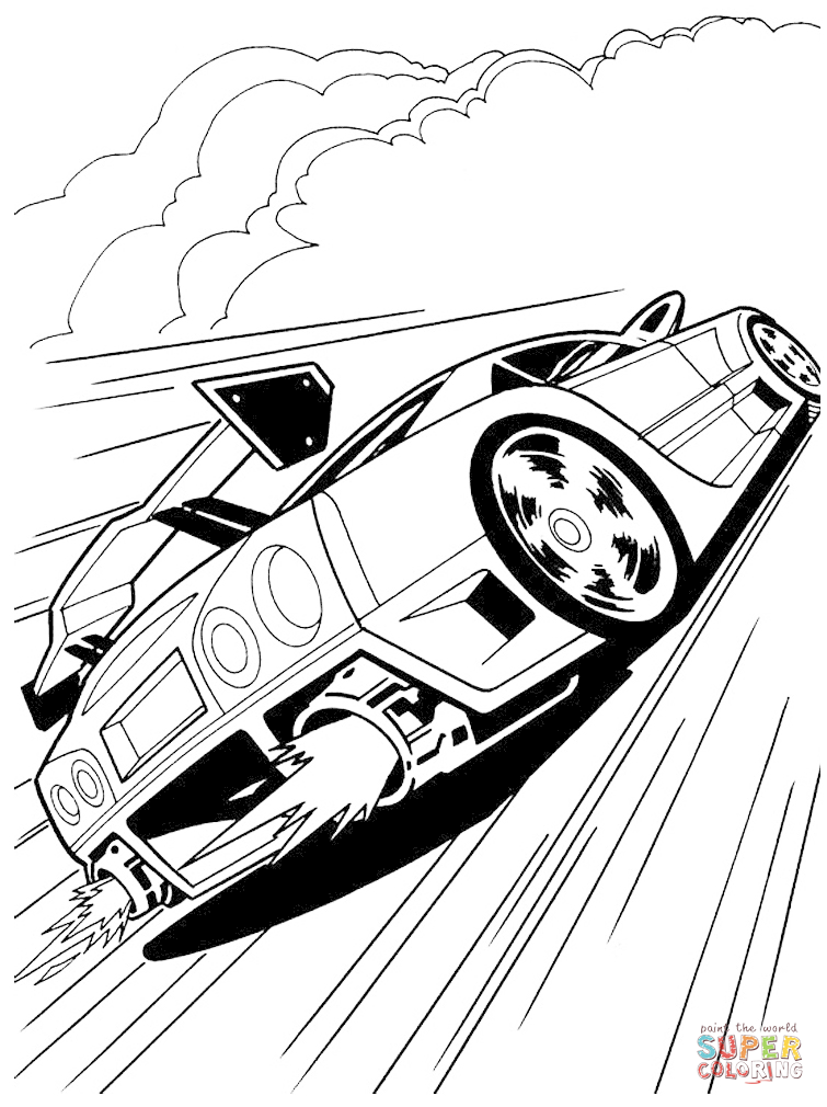 Cool Coloriage Hot Wheels 18 Avec supplémentaire Coloriage Pages with Coloriage Hot Wheels