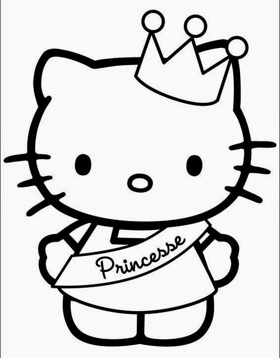 Cool Coloriage Kitty Princesse 56 Dans Coloriage idée by Coloriage Kitty Princesse