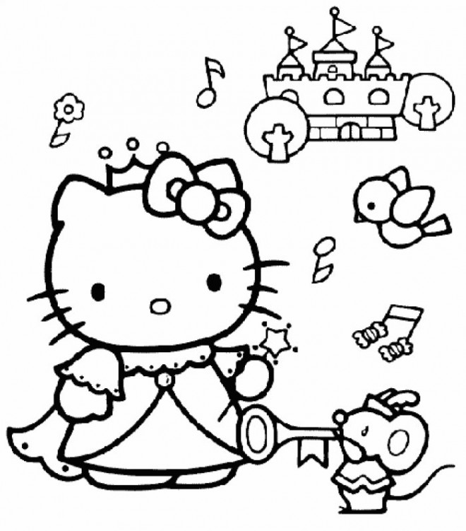 Cool Coloriage Kitty Princesse 61 Dans Coloriage idée by Coloriage Kitty Princesse