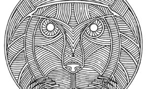 Cool Coloriage Mandala Lion 32 sur Coloriage idée with Coloriage Mandala Lion