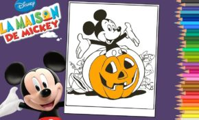 Cool Coloriage Mickey Halloween 16 Avec supplémentaire Coloriage Inspiration by Coloriage Mickey Halloween