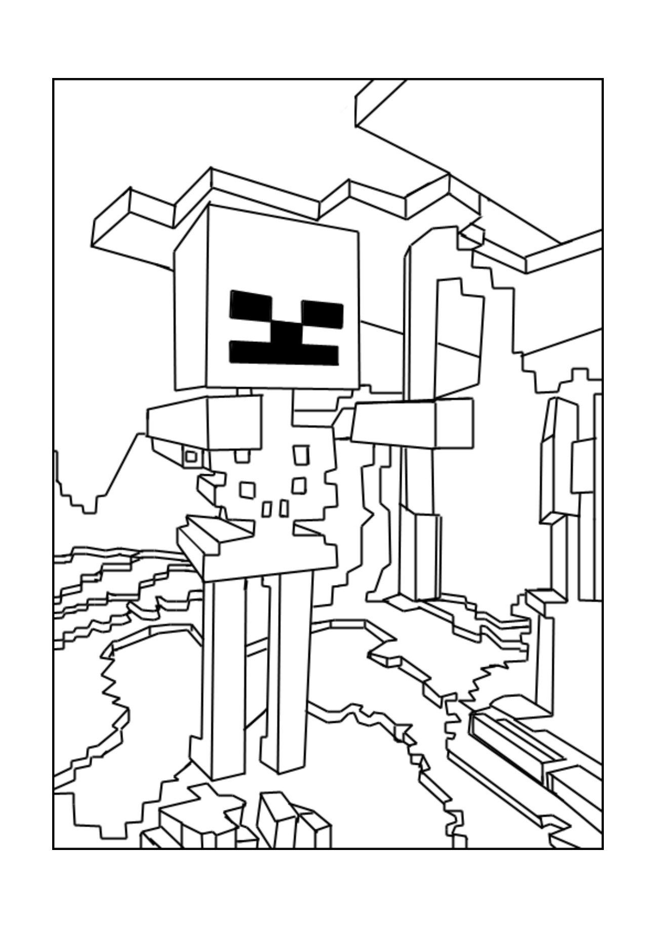 Cool Coloriage Minecraft 78 Pour Coloriage Inspiration for Coloriage Minecraft