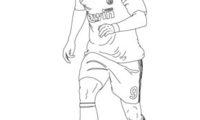 Cool Coloriage Neymar 18 sur Coloriage Pages with Coloriage Neymar