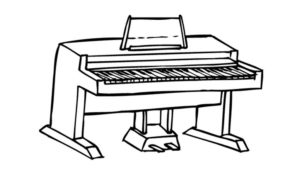 Cool Coloriage Piano 11 sur Coloriage Pages by Coloriage Piano