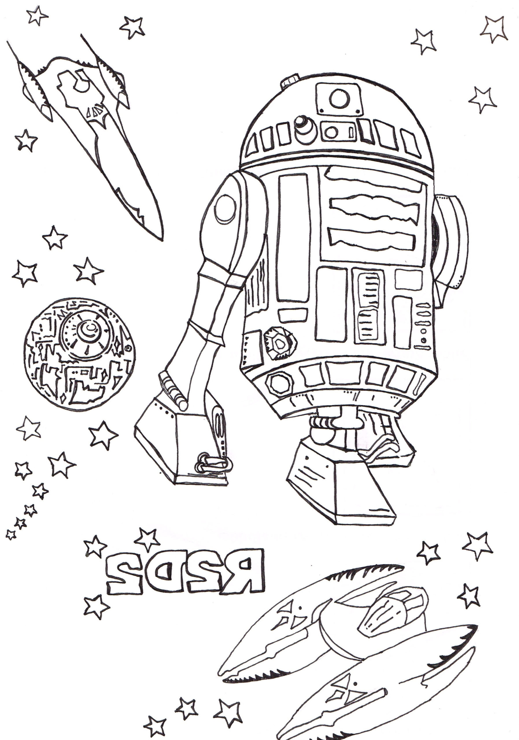 Cool Coloriage Star Wars 19 sur Coloriage Pages by Coloriage Star Wars