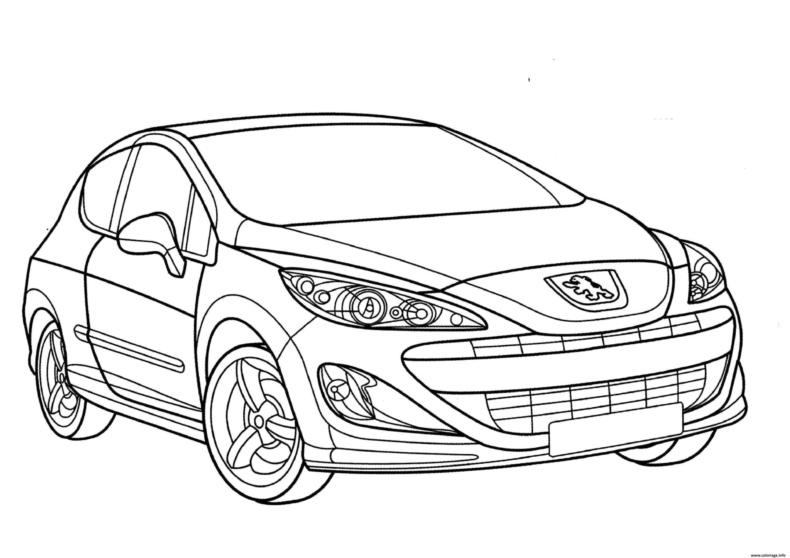 Cool Coloriage Voiture 81 Dans Coloriage Pages with Coloriage Voiture