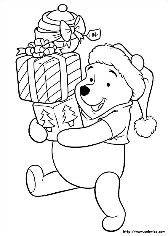 Cool Coloriage Winnie Noel 36 sur Coloriage Pages by Coloriage Winnie Noel