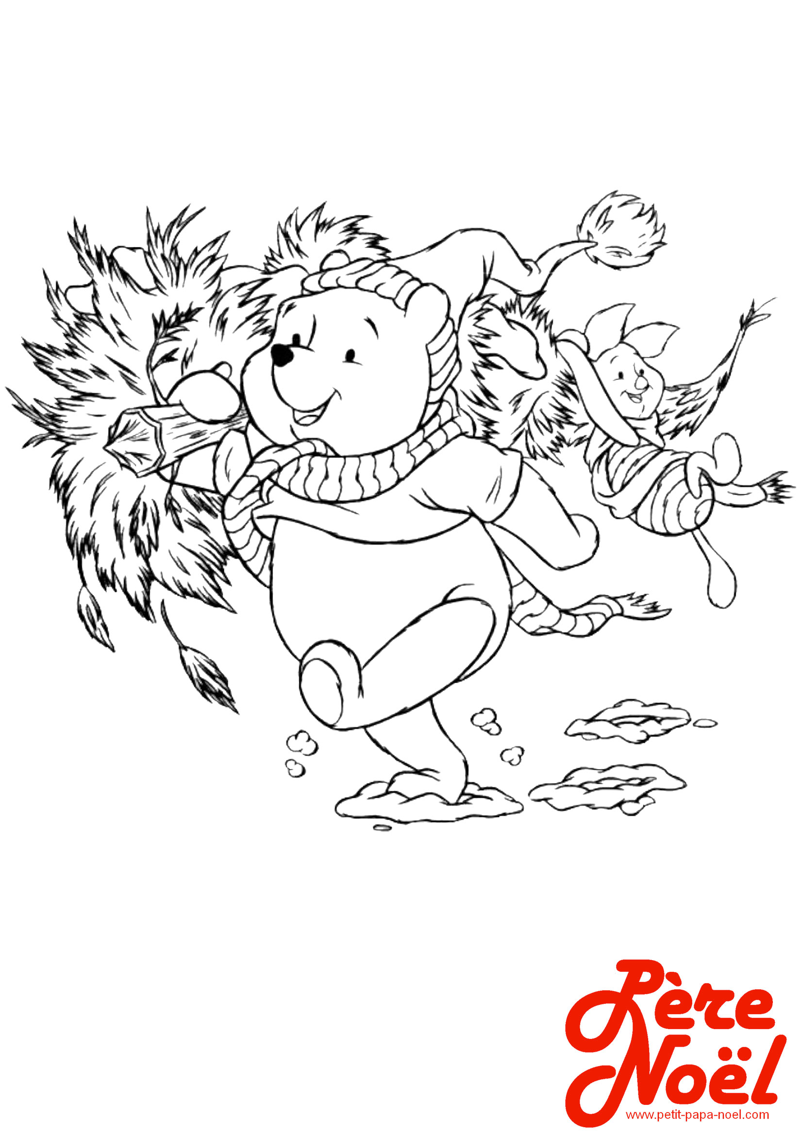 Cool Coloriage Winnie Noel 87 sur Coloriage Books with Coloriage Winnie Noel