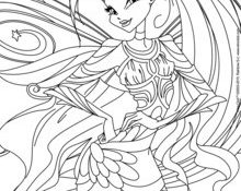 Cool Coloriage Winx Club Bloomix 29 Pour Coloriage Inspiration with Coloriage Winx Club Bloomix