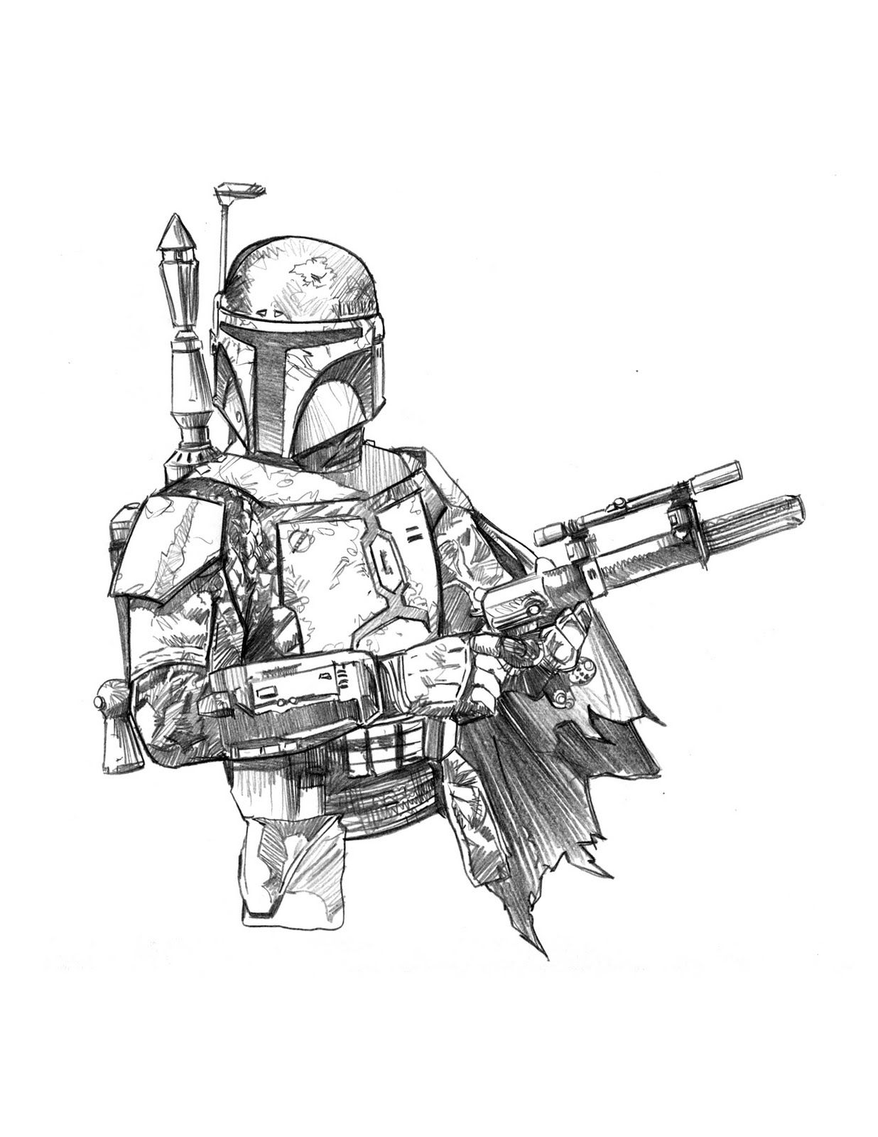 Cool Dessin Boba Fett 66 sur Coloriage Pages for Dessin Boba Fett