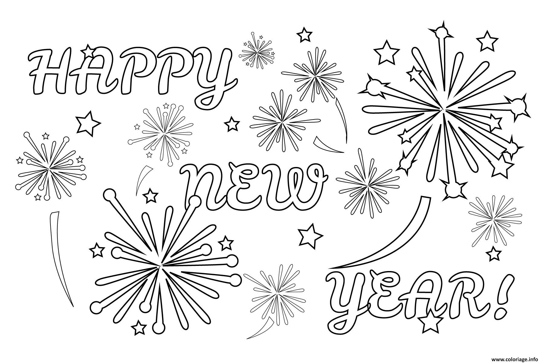 Cool Dessin Happy New Year 94 Pour Coloriage Inspiration for Dessin Happy New Year