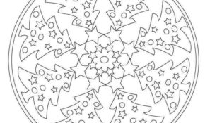 Cool Mandala De Noel Facile 45 Pour Coloriage Pages for Mandala De Noel Facile
