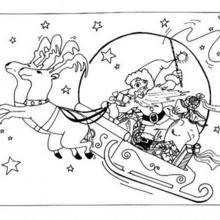 Cool Pere Noel Traineau Dessin 95 sur Coloriage Pages with Pere Noel Traineau Dessin