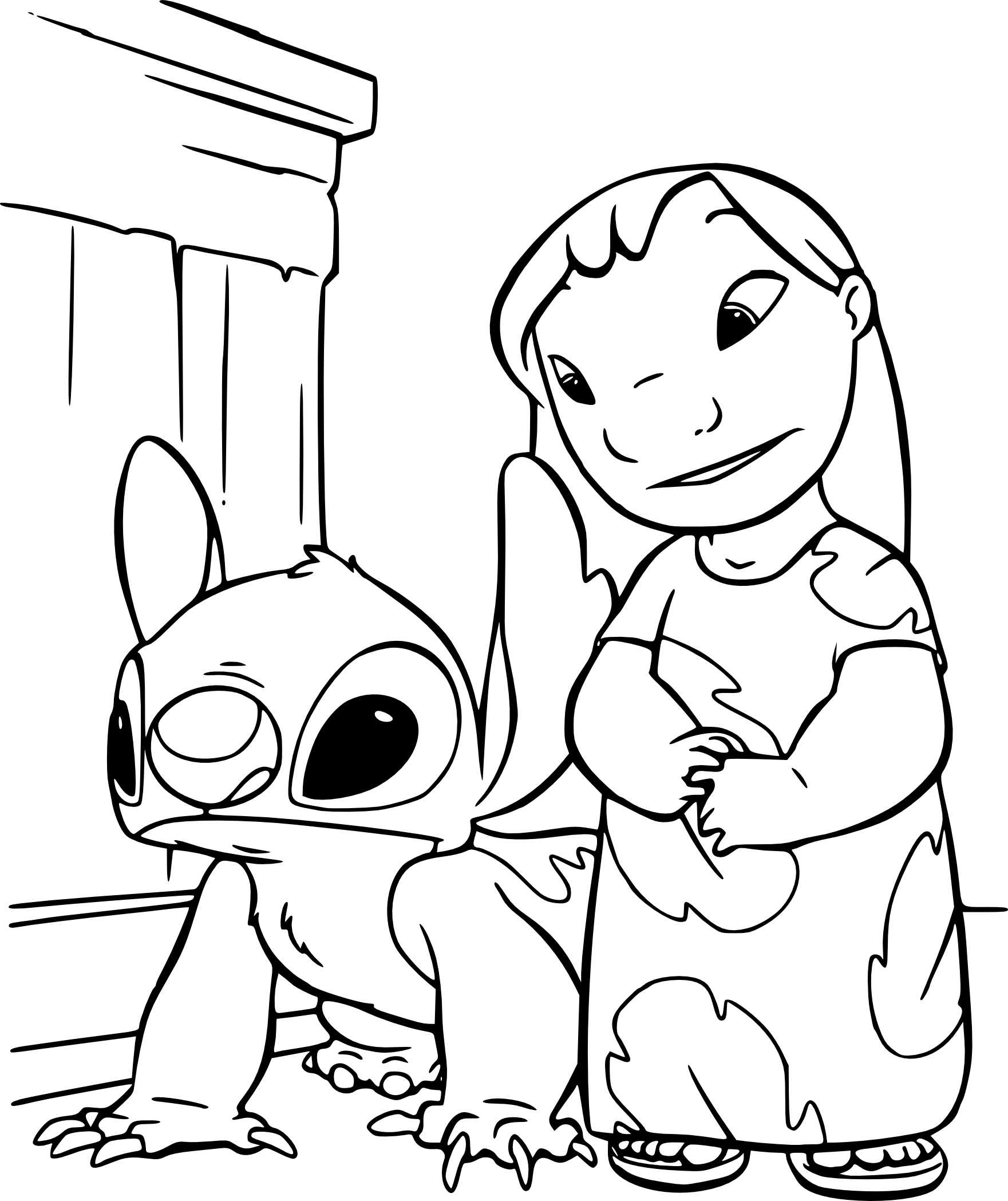 Cool Stitch Coloriage 39 Pour Coloriage idée for Stitch Coloriage