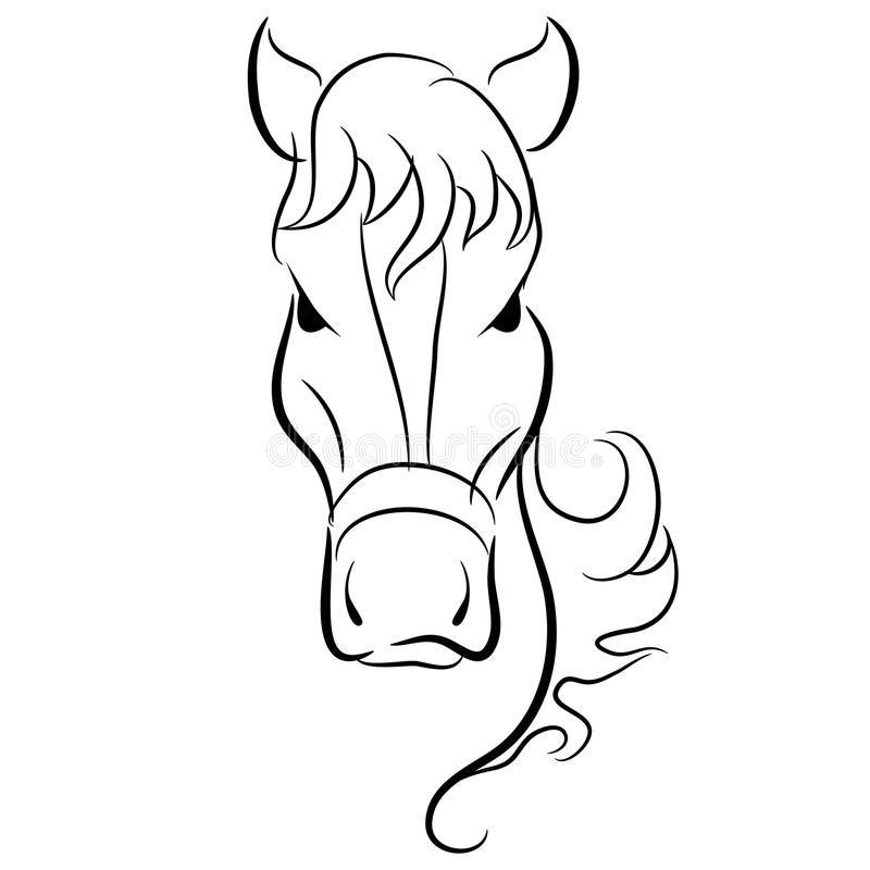 Cool Tête De Cheval De Face Dessin 23 Pour Coloriage Inspiration with Tête De Cheval De Face Dessin