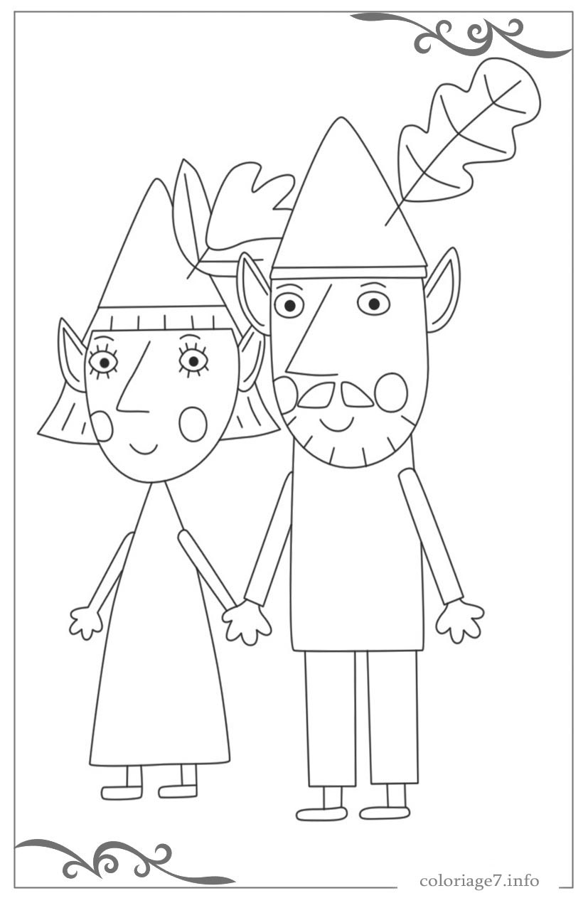 Excellent Ben Et Holly Coloriage 77 Pour votre Coloriage Pages for Ben Et Holly Coloriage