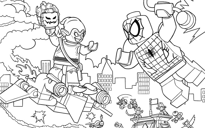 Excellent Coloriage Lego Spiderman 52 Dans Coloriage idée with Coloriage Lego Spiderman