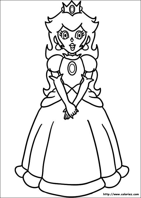 Excellent Coloriage Princesse Peach 57 Dans Coloriage idée for Coloriage Princesse Peach