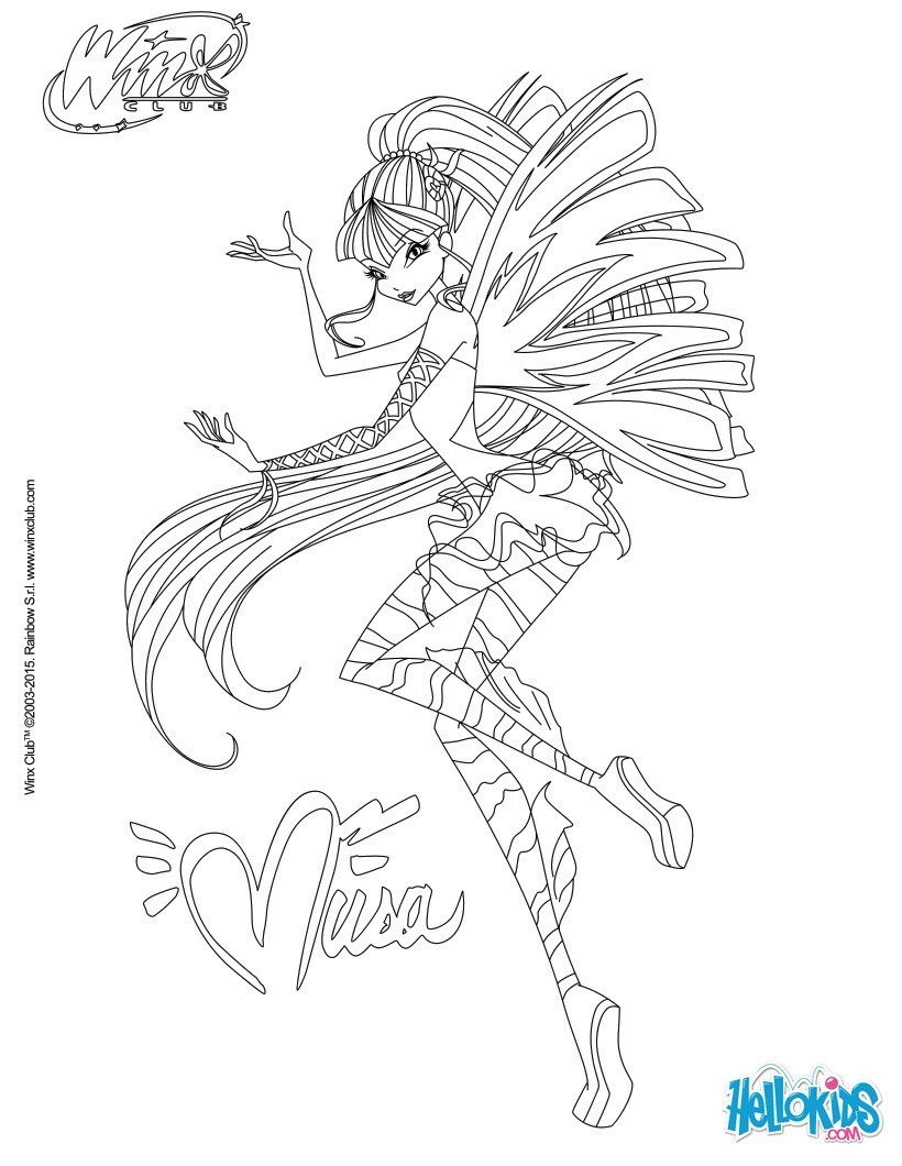 Excellent Coloriage Winx Musa 82 Pour votre Coloriage Books with Coloriage Winx Musa