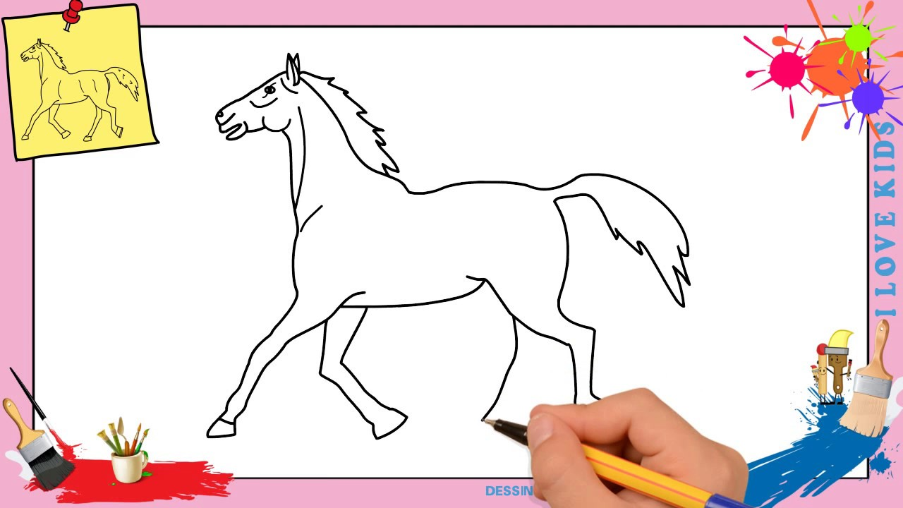 Excellent Dessin Facile A Faire De Cheval 95 Pour Coloriage idée with Dessin Facile A Faire De Cheval
